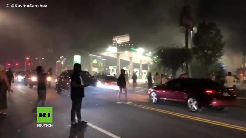 USA Erneut Afroamerikaner bei Polizeieinsatz getötet – Protestler setzen Wendys-Filiale in Brand