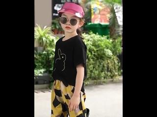Одежда для девочек топ с кроликом + геометрические шорты комплект из 2 предметов костюм подростков 6