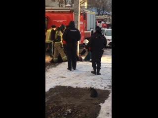 Пожар на улице Розы Люксембург в Ульяновске