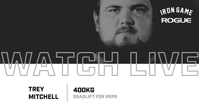 Full Live Stream Trey Mitchell 400KG Deadlift For Reps Record Attempt