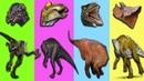 Мультики Про Динозавриков Для Самых Маленьких Динозавры Для Детей Тиранозавр Рекс. Подбери Голову
