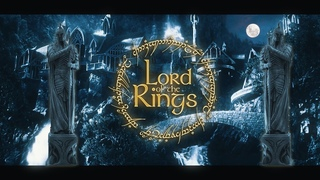 Rivendell ☽ Night [ASMR] Hobbit & LOTR Ambience ◎ 2 Scenes 🌊Waterfalls 🌙Moonlight -Nature Sounds