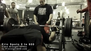 0 to 600 lbs BENCH in 30 Seconds Eric Spoto!!