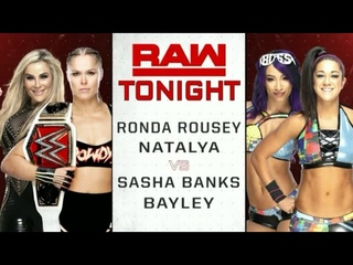 #SBMKV_Video | WWE RAW 21.01.19: - Sasha Banks & Bayley vs Ronda Rousey & Natalya