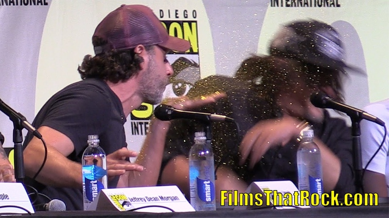Andrew Lincoln Glitter Bombs Norman Reedus at Comic Con 2016