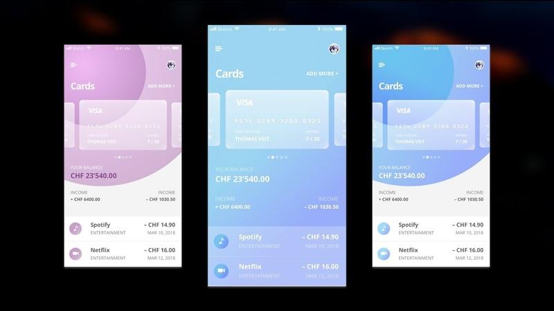 Designing a Banking App in Sketch App 49 (Timelapse)