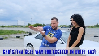 Christina gets way too excited in drift taxi