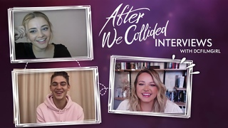 AFTER WE COLLIDED movie interviews - Josephine Langford, Hero Fiennes Tiffin and Anna Todd
