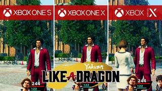 Yakuza: Like a Dragon Comparison - Xbox Series X vs. Xbox One X vs. Xbox One S vs. PS4 vs. PS4 Pro