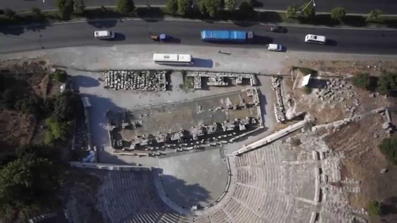 Bodrumun Antik Anfi Tiyatro Tiyatrosu Havadan Video Çekimi / Ancient Amphi Antique Theater