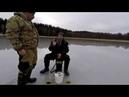 Рыбалка по льду на озере Янисъярви