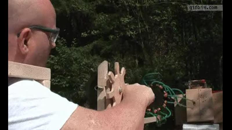 Gatling crossbow slingshot
