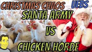 UEBS Day 2 - Santa vs 20000 Chickens Christmas Chaos (Ultimate Epic Battle Simulator)