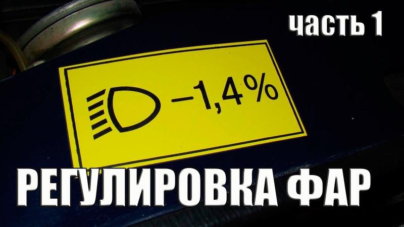 Регулировка фар без прибора adjustment of the headlights without the device