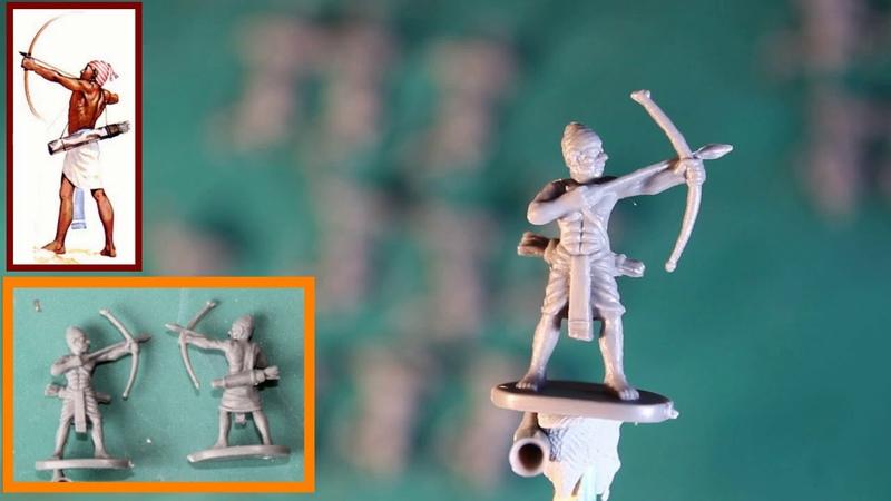«Древнеегипетские воины (тяжёлая пехота и лучники» от компании «Caesar MINIATURES»