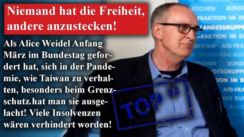 Roman Reusch AfD niemand hat die Freiheit andere anzustecken!
