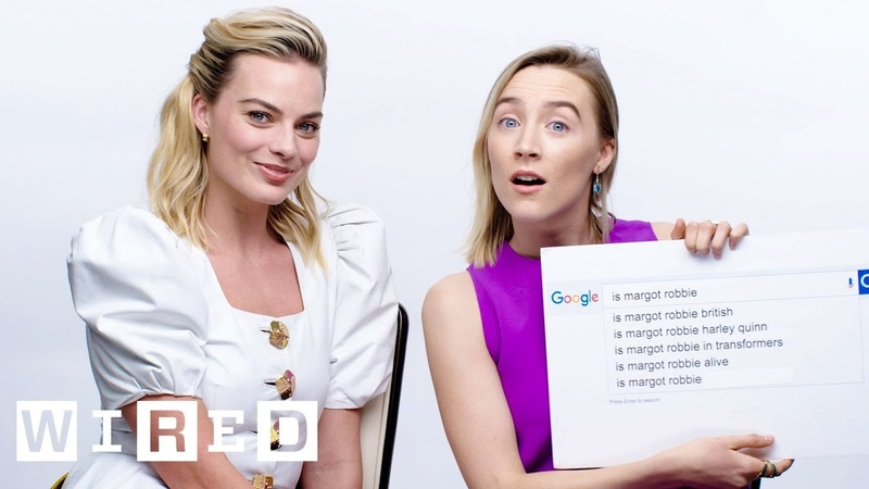 Margot Robbie Saoirse Ronan Answer the Web's Most Searched Questions WIRED