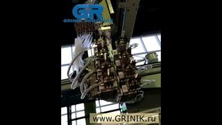 Робот для установки закладных элементов в термопластавтомат. Роботизированный комплекс GRINIK
