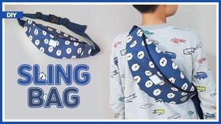 DIY/ WAIST BAG/ SLING BAG/ FANNY PACK/ BUM BAG/ 어깨에 메거나 허리에 찰 수있는 웨이스트백 만들기/ 슬링백/ sewin