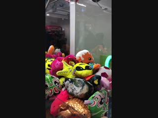 Claw machine in a cinema