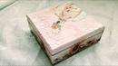 Decoupage For Beginners - How To Make Decoupage On Wood With Napkins - Decoupage Art - Wedding Box