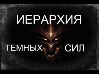 ИЕРАРХИЯ И КЛАССИФИКАЦИЯ ТЕМНЫХ СИЛ.