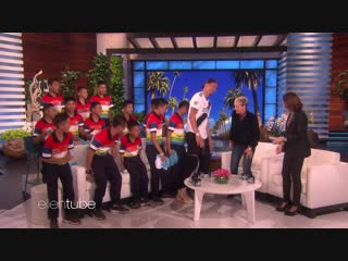 Zlatan surprises thai boys soccer team rescued from cave on the ellen degeneres show