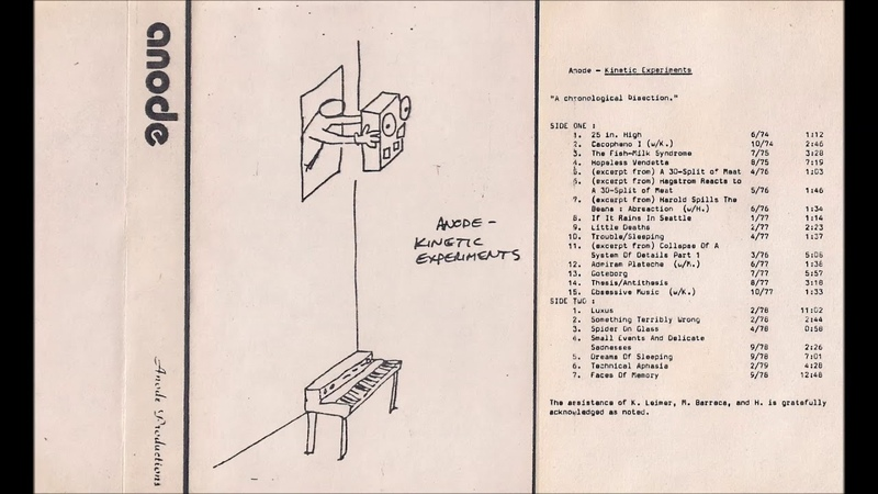 Anode Small Events And Delicate Sadnesses 1981