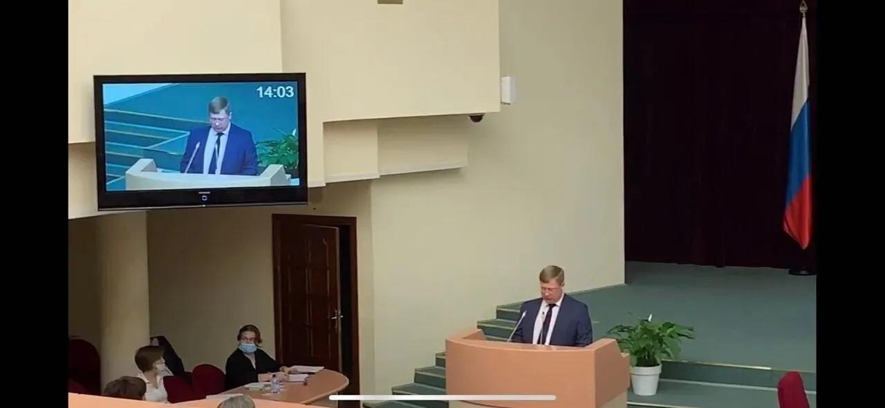 Глава Петровского района выступил на заседании Совета МО в областной Думе