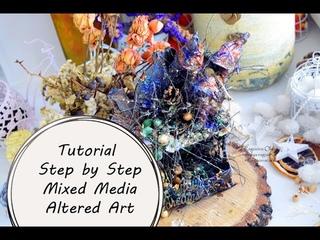 МК Альтер Арт|Tutorial Step by Step Mixed Media Altered Art by Ragozina Olya