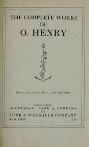 Рассказы О'Генри