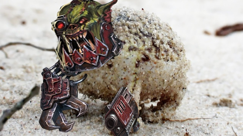 Angry Squeaking Ork Frog