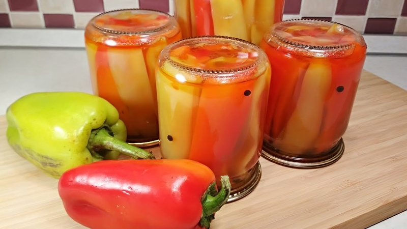 Маринованный ПЕРЕЦ НА ЗИМУ Простой рецепт без стерилизации Болгарский перец в медовом маринаде