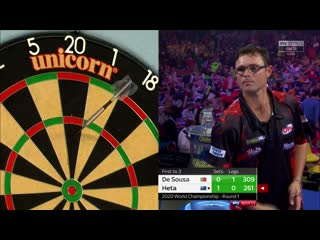 José de Sousa vs Damon Heta (PDC World Darts Championship 2020 / Round 1)