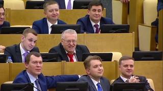 Жириновский ОТЖИГАЕТ после визита Путина в Думу