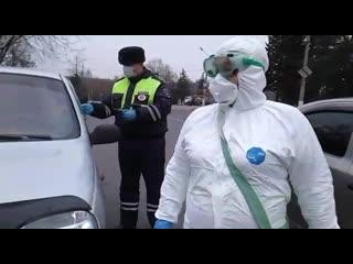 Контрольно-пропускные посты в Курчатове и Железногорске