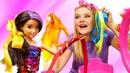 Банты из лент для Барби и игрушек - Видео игры прически для девочек - Школа стилиста
