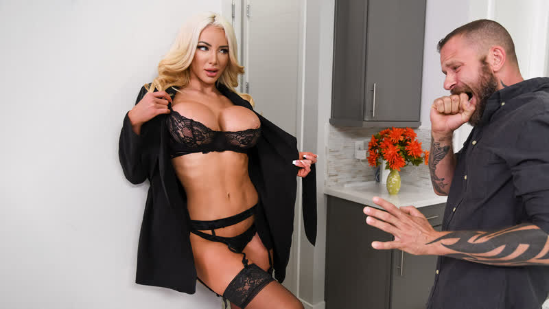 Nicolette Shea An Intense Affair 2020 г. , Bald Pussy, Big Ass, Big Tits, Black Stockings, Blonde, Blowjob (