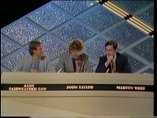 Pop quiz. with david gilmour, john taylor, mari wilson and martyn ware. .