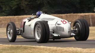 1936 Auto Union Type C V16 Sound In Action at Festival of Speed 2018!