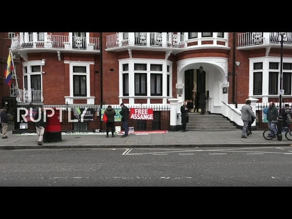 LIVE Assange to be expelled 'from hours to days' from Ecuadorian Embassy - WikiLeaks (PART 2)