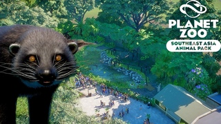 Binturong Habitat Speed Build    Planet Zoo Southeast Asia Animal Pack   Planet Zoo DLC