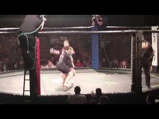 Veronica Macedo vs Chrissy Audin, MMA headkick KO