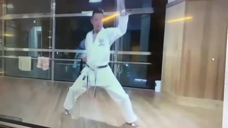каратэ сётокан тренировка ката Энпи сэнсэя Такуя Макита 5 Дан JKS из Японии 04 09 20