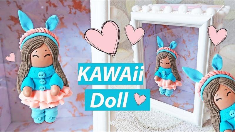 DIY Кавайная кукла из легкого пластилина Копилка
