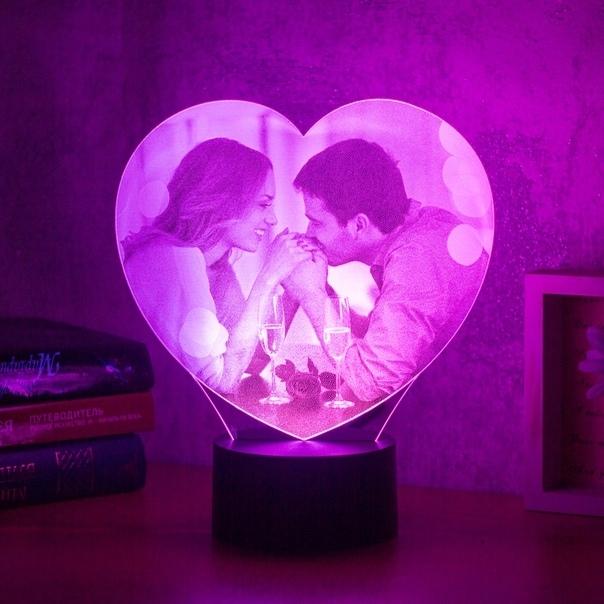 светильники с фотографиями свадебный