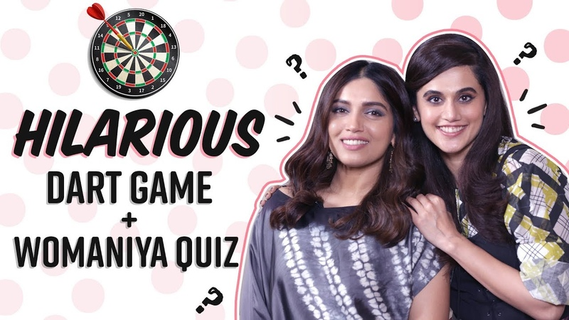 Taapsee Pannu Bhumi Pednekar's EPIC FAILS in Dart Game Quiz on Kareena Aishwarya Saand Ki Aankh