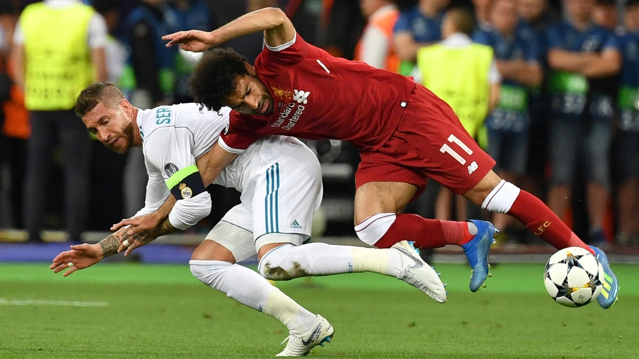 Реал - Ливерпуль, финал Лиги чемпионов 2017/18. Единоборство Рамоса и Салаха