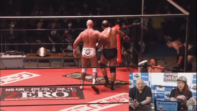 Kohei Sato Shinjiro Otani vs Chris Vice Yoshikazu Yokoyama vs Yasu Kubota Yuji Hino