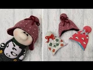 Как сделать шапочку для куклы за 15 минут - How to make a doll hat in 15 minutes